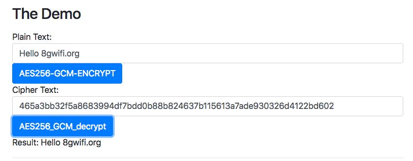 Web Crypto API AES-GCM - generateKey/Encrypt/Decrypt