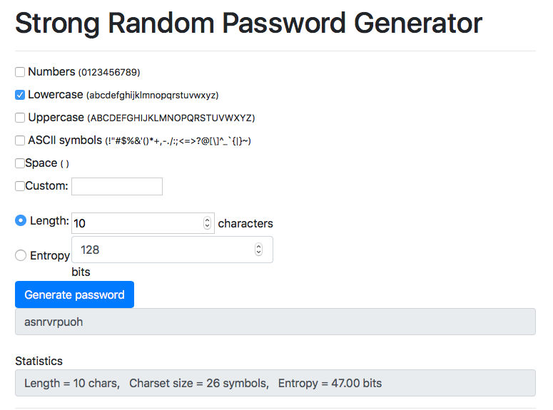 random key generator in javascript