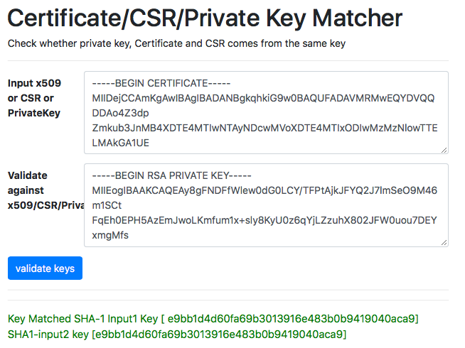 X509 Check Private Key